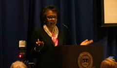Anita Hill, now Univ. Professor, lectures on race, gender, opportunity