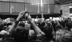 Students attend Bernie Sanders rally