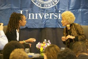 Johnson interviewed writer and professor Margo Jefferson '68 about her new memoir at an event this March.