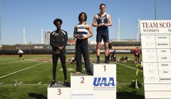 Bryson '19, Gourde '17 run national-caliber times at UAAs