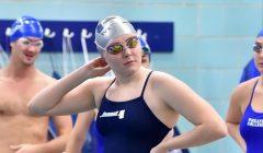 Men's swimming sweeps while women's splits