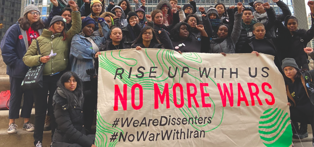 Students rally to protest militarism
