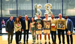 Men's basketball honors two on senior day, Jones and Sawyer receive all-UAA recognition