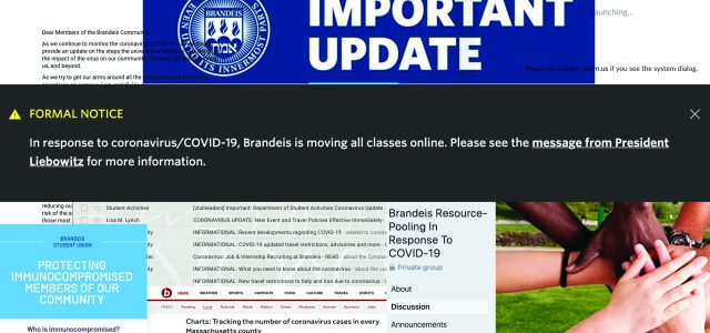 Brandeis sends students home due to growing concerns over COVID-19, all events cancelled